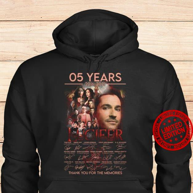 05 Years Lucifer Thank You For The Memories Signatures Shirt