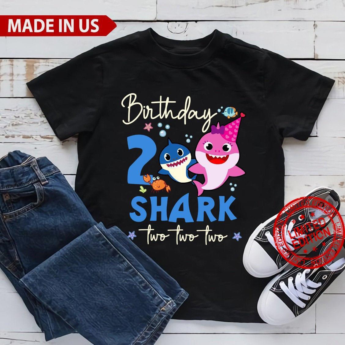 Kids Baby Shark 2nd Birthday Boy Girl Shirt