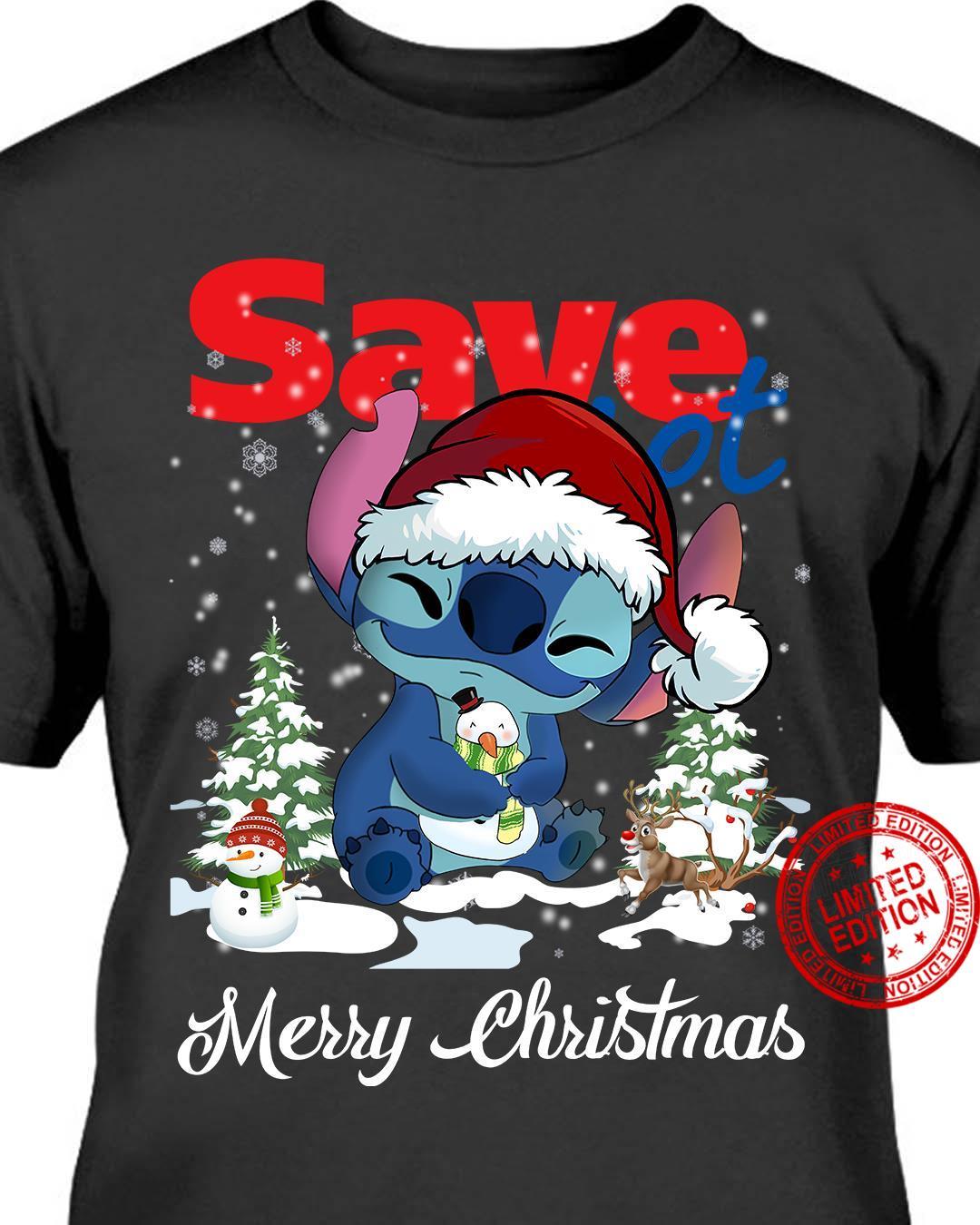 Stitch Save Merry Christmas Shirt