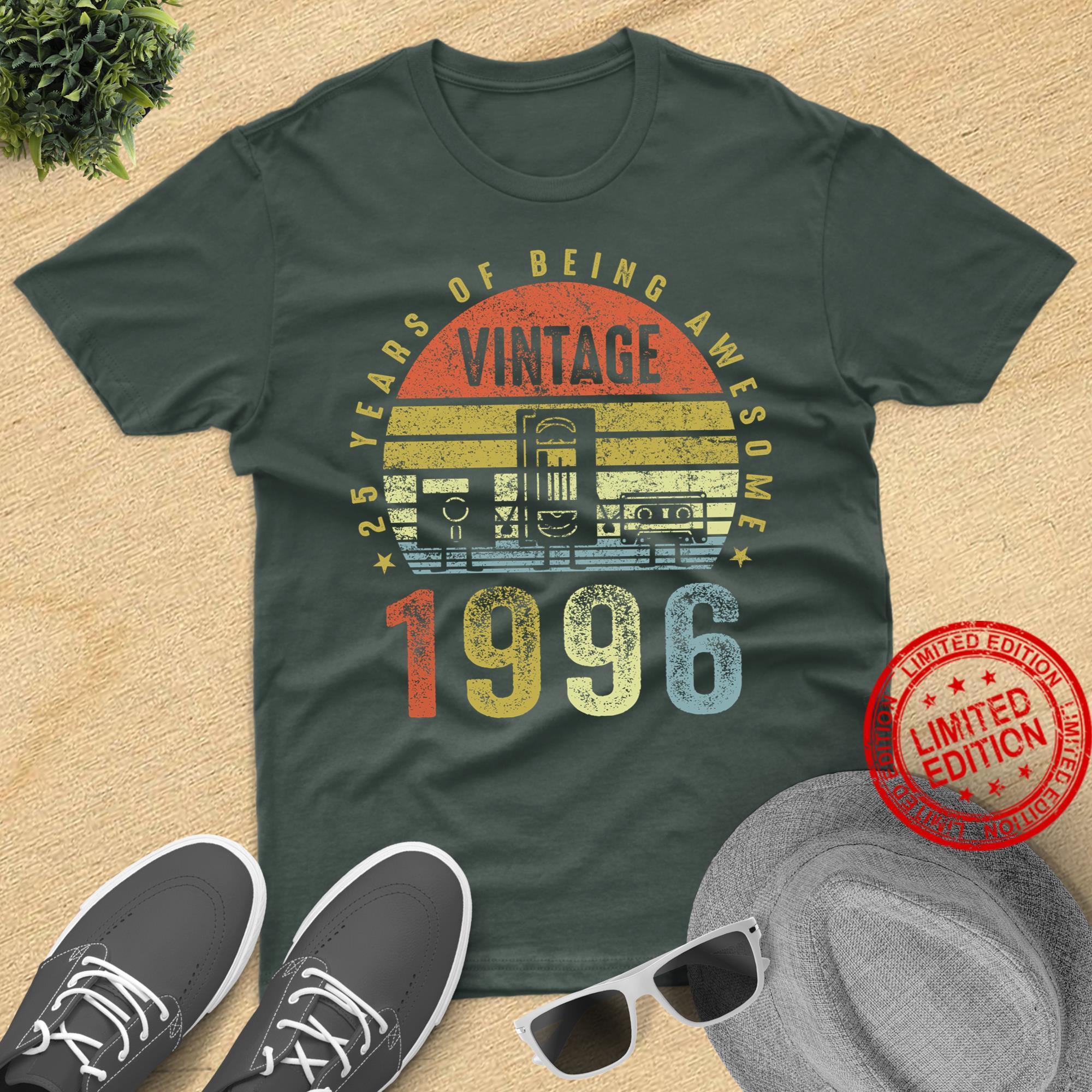 Vintage 1996 , Cassette Tape Birthday Shirt