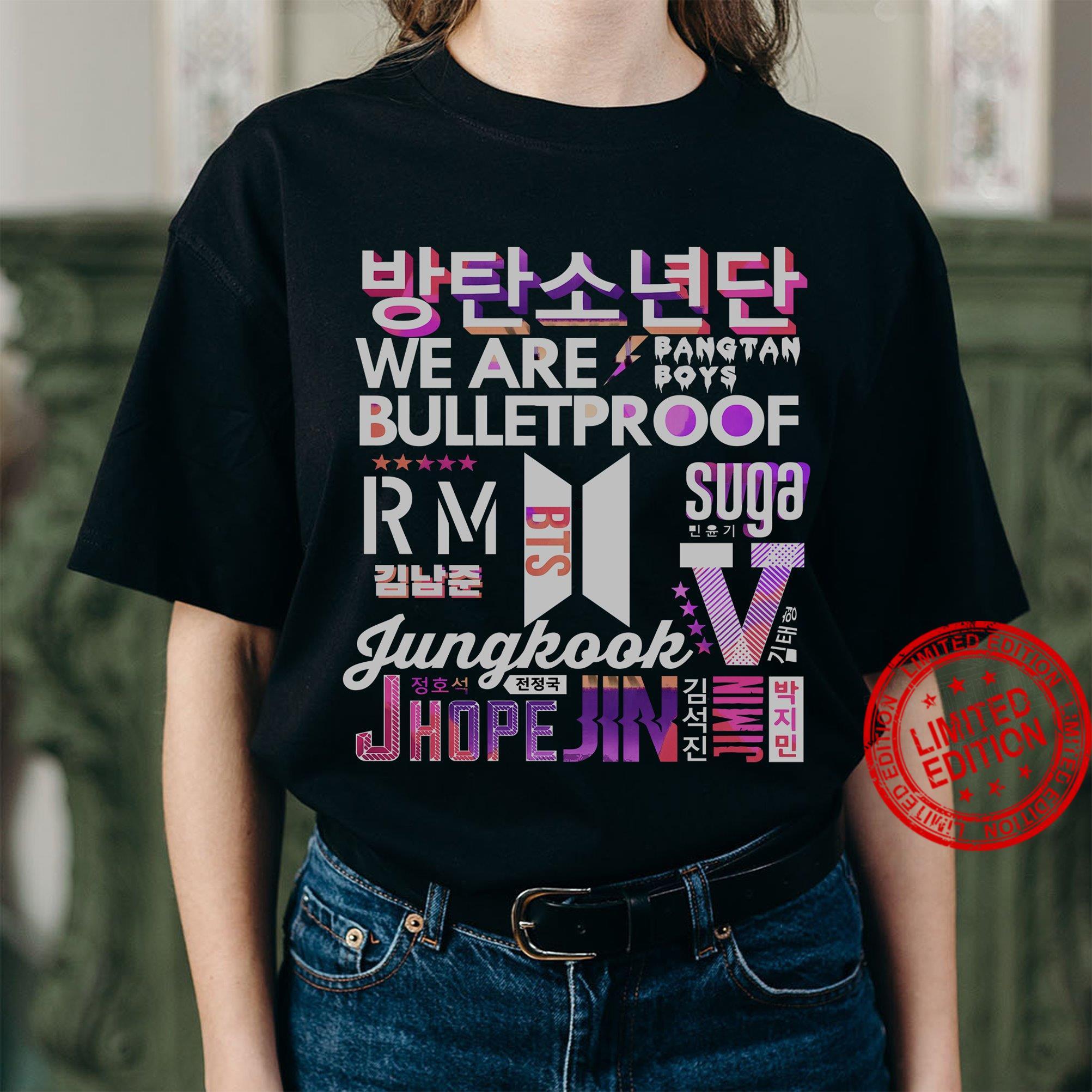 We Are Bulletproof Suga Jungkook Shirt