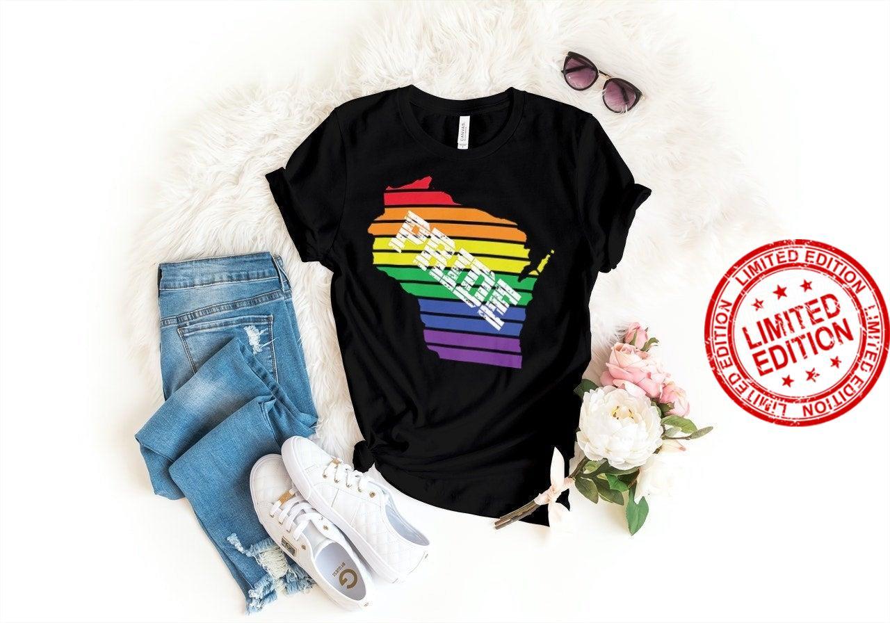 Wisconsin Gay Pride Shirt Rainbow LGBTQ Shirt