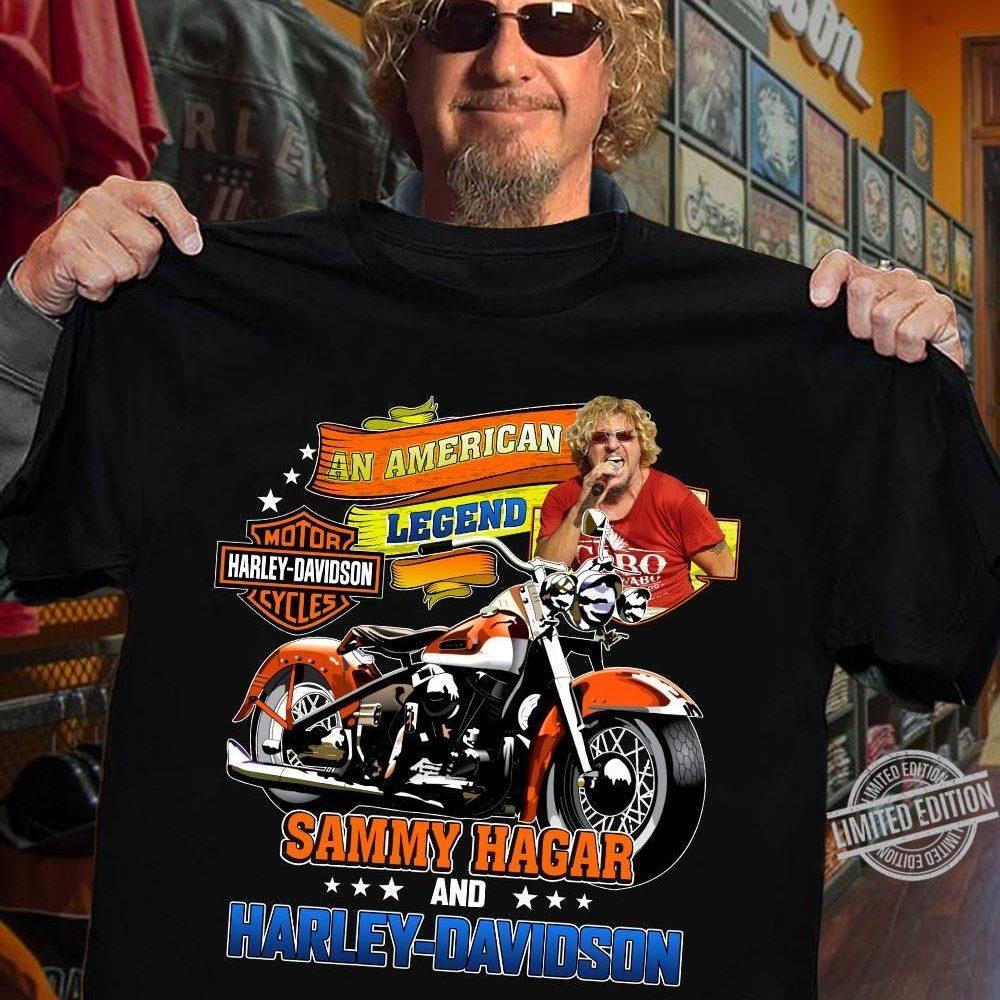 An American Legend Sammy Hagar And Harley DavidsoShirt