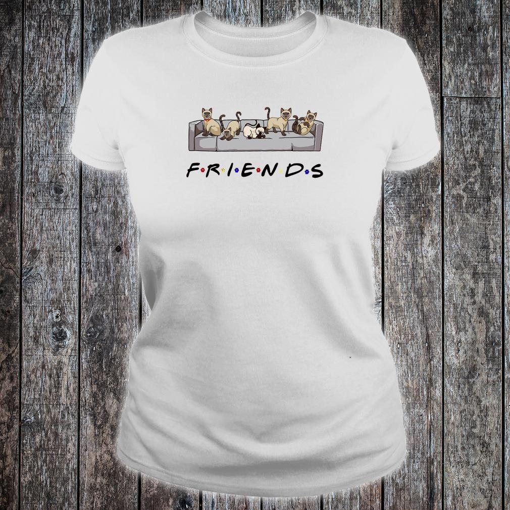 Cats on the sofa friends shirt ladies tee