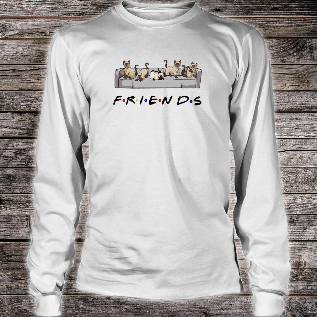 Cats on the sofa friends shirt Long sleeved