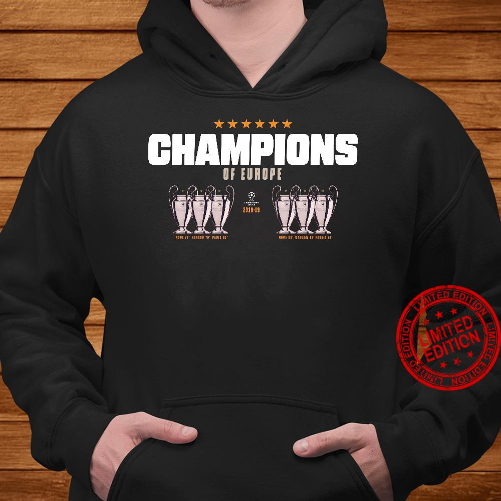Champion of europe champions league 2019-2019 Liverpool 6th shirt hoodie