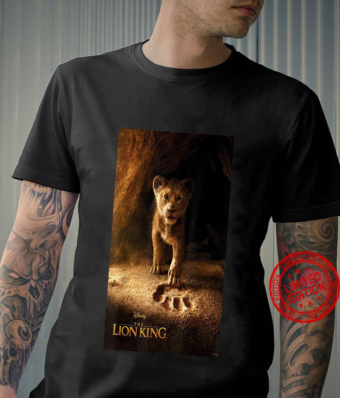 Disney the lion king live action simba paw fill movie shirt