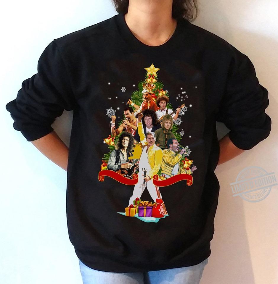 Freddie Mercury Christmas Tree Gift Shirt
