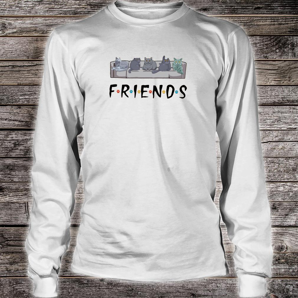 Grey cats on the sofa friends shirt Long sleeved