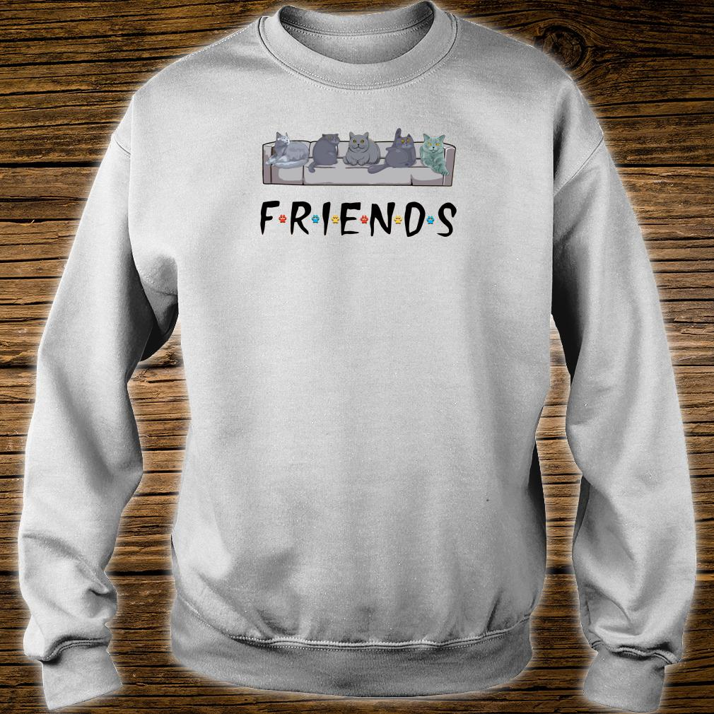 Grey cats on the sofa friends shirt sweater