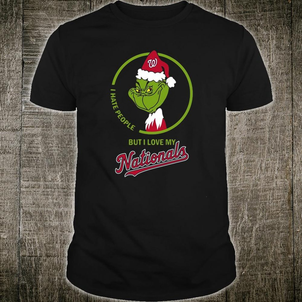 Grinch i hate people but i love my Nationals shirt