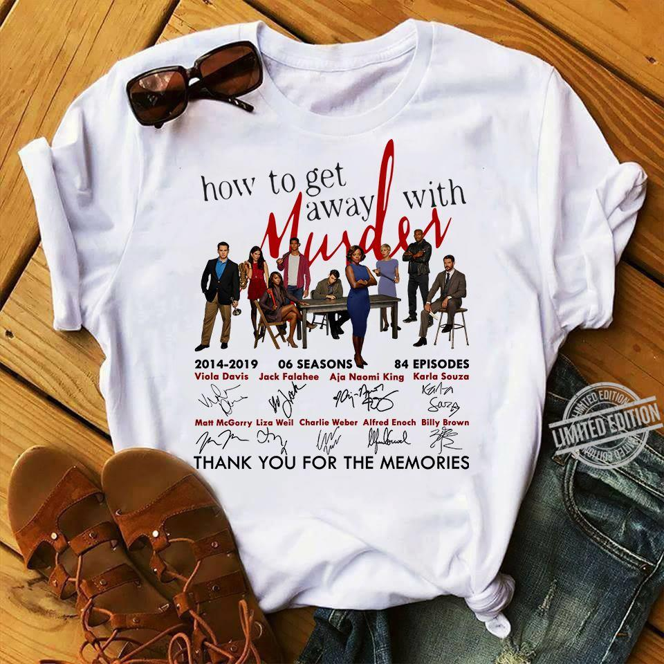How To Get Away With Murder And Signatures Shirt