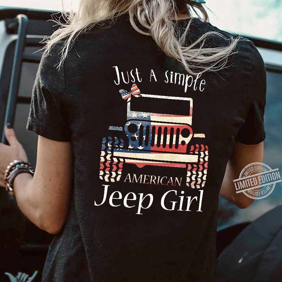 Just A simple American Jeep Girl Shirt