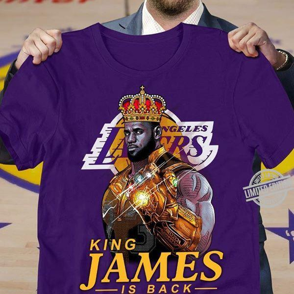 Los Angeles Lakers King James Is Back Shirt