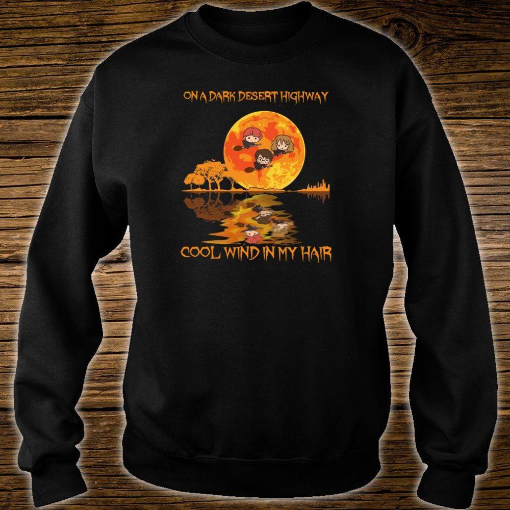On a dark desert highway cool wind in my hair shirt sweater