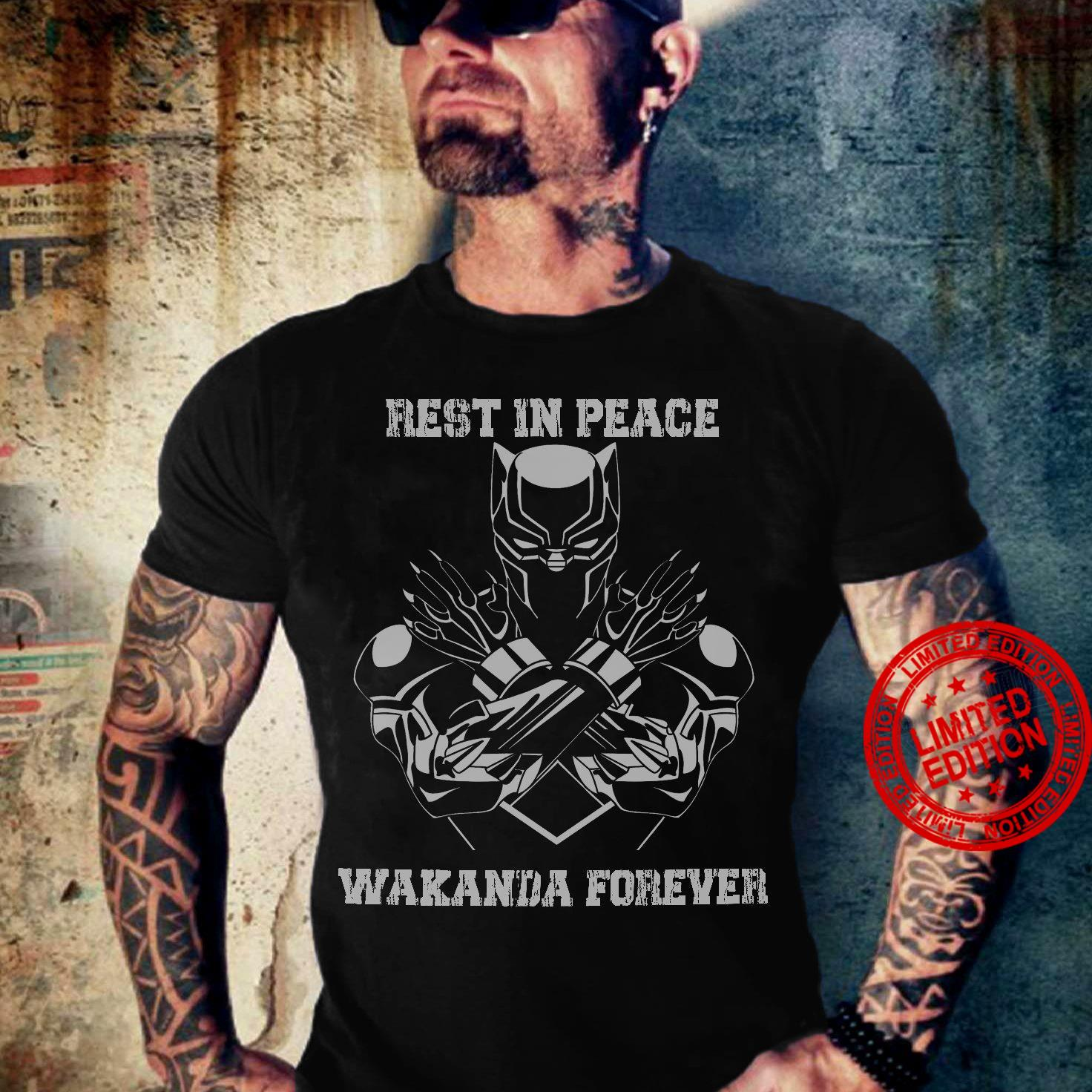 Rest In Peace Wakanda Forever Shirt