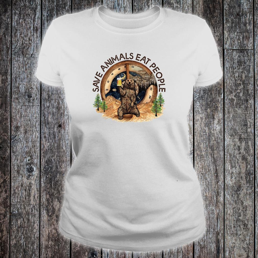 Save animals eat people shirt ladies tee