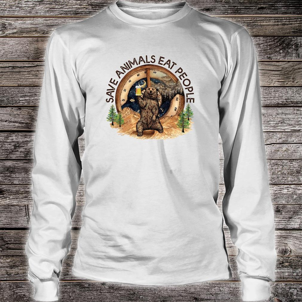 Save animals eat people shirt long sleeved