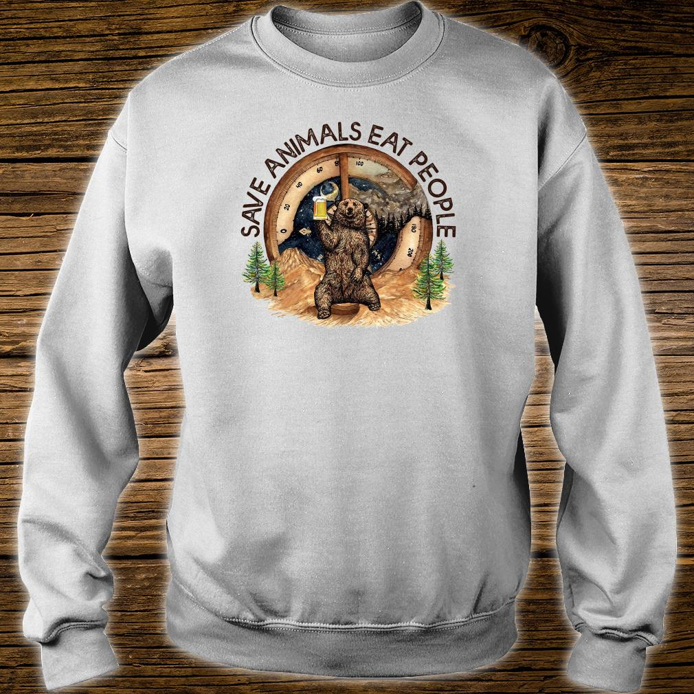 Save animals eat people shirt sweater