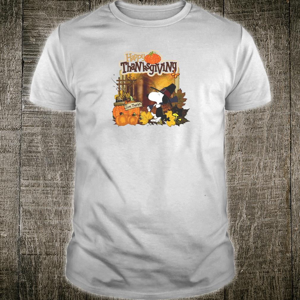 Snoopy and Woodstock happy thanksgiving shirt
