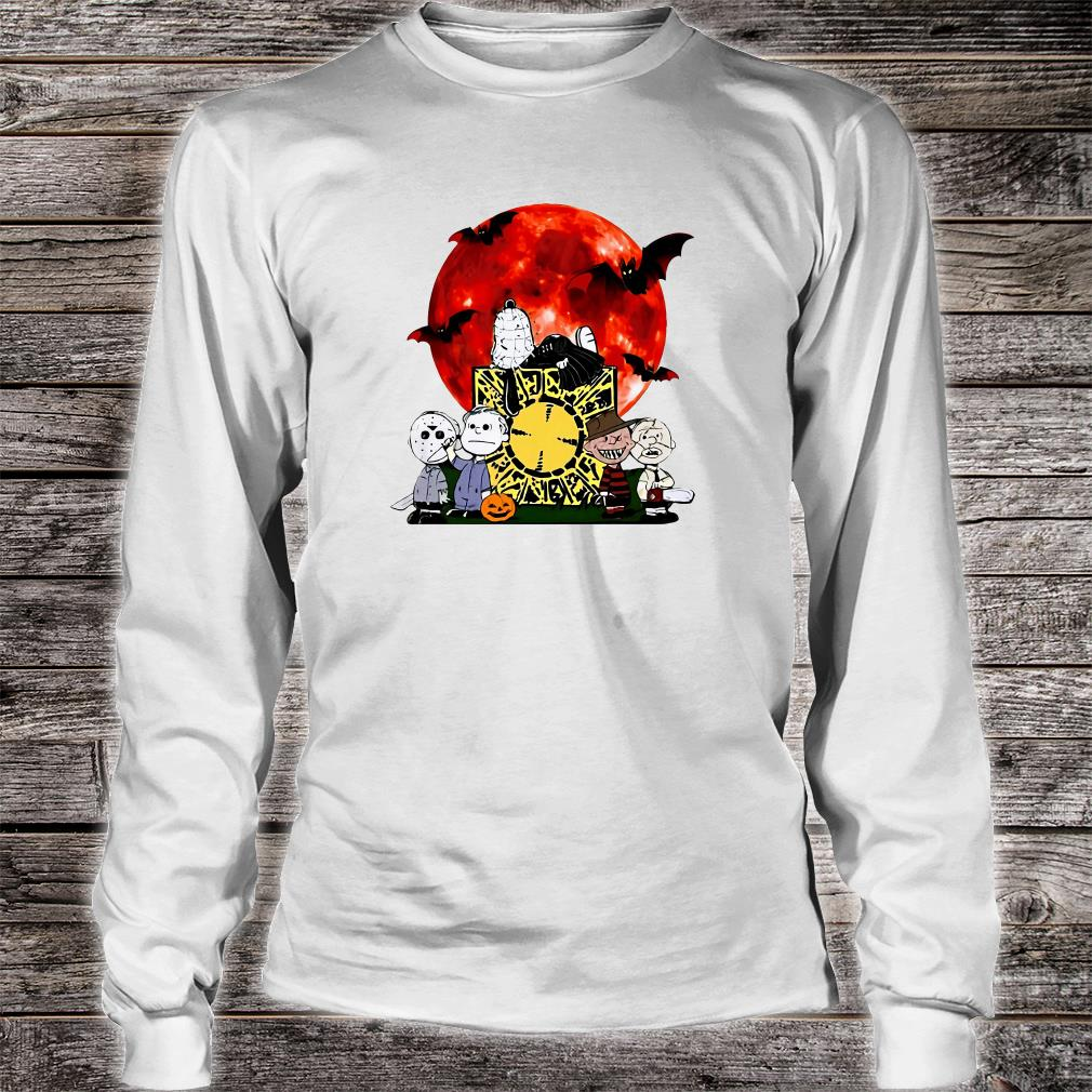 Snoopy horror characters shirt Long sleeved