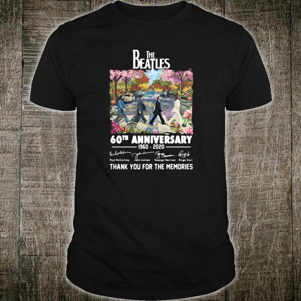 The Beatles 60th anniversary 1960 2020 signatures shirt